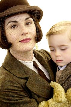Equestrian Lady Mary and her son George.