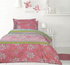 Brighten up your kid's bedroom with this Daisy Quilt Cover Set by Ardor. It will dress up the bedroom with a vibrant daisy design that gives comfort and easy living. Duvet, Bedding, Cosy Bed, Daisy Chain, Quilt Cover Sets, Bed Sizes, Kids Bedroom, Pillow Cases, Quilts