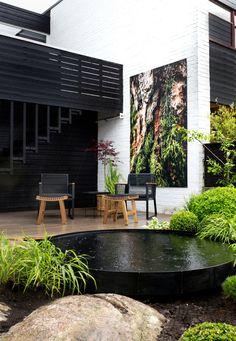 Small Backyard Design, Modern Garden Design, Small Backyard Landscaping, Backyard Patio, Landscape Design, Modern Landscaping, Modern Design, Small Gardens, Outdoor Gardens