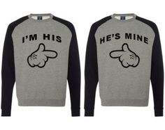 I'm His He's Mine Hooded Sweatshirts Gay by clothingforanyone