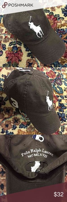 NWT - Brown Unisex POLO Baseball Hat Authentic Ralph Lauren POLO Adjustable Baseball Hat - Unisex - Six-panel construction with embroidered eyelets at the crown - Seamed bill - Emblems & words embroidered in Off-White on vintage-looking Brown Hat - silvertone piece on back - BNWT  *Price is Firm* Polo by Ralph Lauren Accessories Hats