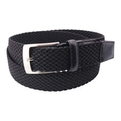 Womens 1 3//8 Braided Woven Solid Leather Belt