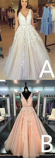prom dress,prom dressesCharming V Neck Prom Dress,Sleeveless Prom Dress With Appliques,Sexy Long Prom Dresses,A Line Wedding Dresses