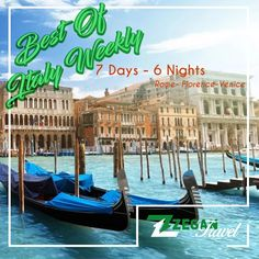 Best of Italy Weekly - (7 days - 6 nights) * Rome - Pisa - Florence - Venice * Airport Transfers * Guided Daily Tours  Contact us now info@zegantravel.com http://www.zegantravel.com/Best-Of-Italy-Weekly #rome #italy #Collesium #pisa #venice