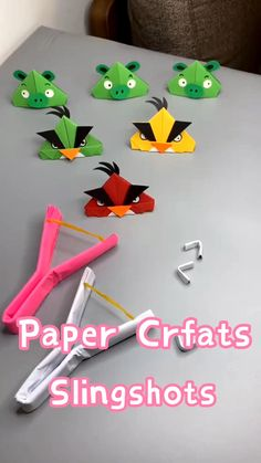 Paper Crafts Origami, Paper Crafts For Kids, Cardboard Crafts, Craft Activities For Kids, Preschool Crafts, Diy For Kids, Diy Paper, Paper Folding For Kids, Popsicle Stick Crafts For Kids