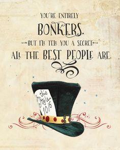 Free Alice In Wonderland Quote Print