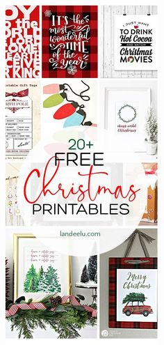 Make this holiday season easier on yourself by simply downloading and printing some of these adorable FREE Christmas printables! The perfect home decor to spread some holiday cheer!