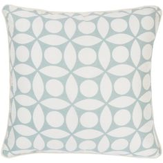 "Rizzy Home T-3598 18"" Decorative Pillow in Off White / Grey"
