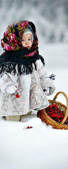 Warm up the baby with a traditional Pavlovo Posad shawl   The House of Beccaria#