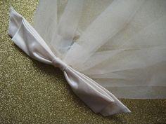Wedding Veil Headpiece Silk Bow & Short by LisaCritcherMilliner, £110.00
