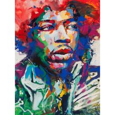 Hendrix painting by Artist Voka. The enormously popular Austrian artist Voka coined the term Spontaneous Realism to describe the dynamic creative process of his representational and impressionistic imagery. #Hendrix #voka #painting #art #artist #fineart