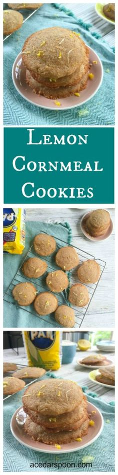 Lemon Cornmeal Cookies are light and sweet with a touch of lemon ...