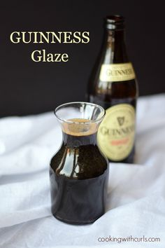 Guinness Glaze - perfect on burgers, salmon, and shrimp.  Sounds like a perfect addition to grilling out!