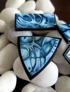 mokume gane polymer beads by KDGArt, via Flickr