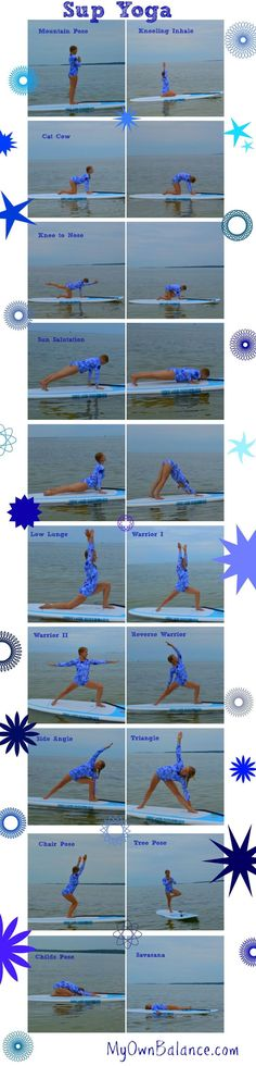 SUP yoga poses. #sup #supyoga #downwarddog #ad #standuppaddleboard #watersports