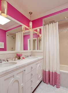 Teen Bathroom Inspiration Ideas… kids' jack and Jill bath maybe:)