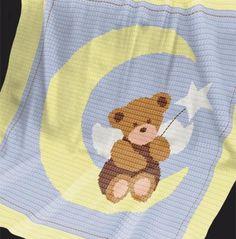 Crochet Pattern | Baby Blanket / Afghan - Angel Bear