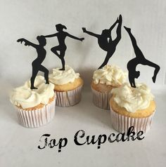 Gymnastics Cupcake Toppers by TopCupcake on Etsy