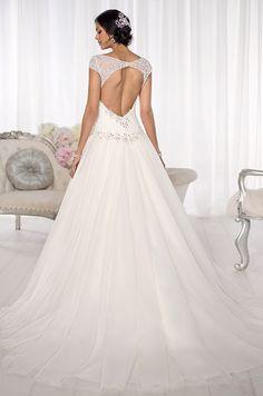 This keyhole back Essense of Australia wedding dress is truly stunning.