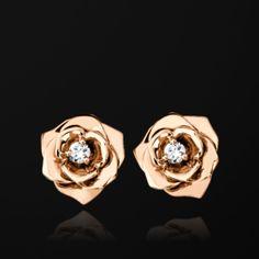 Rose gold Diamond Earrings G38U0043 - Piaget Luxury Jewelry Online - $2,600