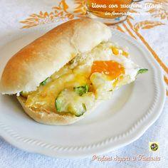 Uova+con+zucchine+filanti+in+formato+panino