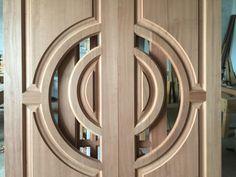 Doors Main Door Design, Tv Wall Design, Solid Doors, Double Doors, Bay Window Exterior, Pivot Doors, False Ceiling Design, Teak Wood, Wooden Doors