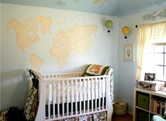 For Jessica     Project Nursery - Travel-Themed Nursery with World Map Mural - Project Nursery