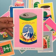 This A risograph print of a can harissa is just one of the custom, handmade pieces you'll find in our prints shops. Love Drawings, Art Drawings, Graphic Design Illustration, Illustration Art, Bd Design, Plakat Design, Illustrations And Posters, Graphic Design Inspiration, Zine