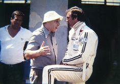 Juan Manuel Fangio con Carlos Reutemann