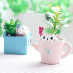 ROOGO 11.11 new design fashion cartoon animal planter zakka handcrafts kawaii flower pots succulent plant pot  #currant #azaleas #ginger #seeds #Wild #springsofeden #home #SHRUBS #Alpine #homedecor