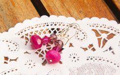 Magenta earrings @ Branching Fig