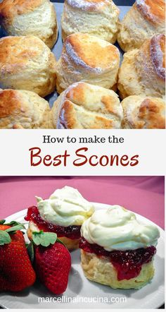Scones This is the Best Scone recipe I have ever tried! Light and fluffy scones made easily!This is the Best Scone recipe I have ever tried! Light and fluffy scones made easily! Best English Scone Recipe, Best Scone Recipe, Recipe For Scones, Light Scone Recipe, Sweet Scones Recipe Easy, Simple Scone Recipe, Eggless Scone Recipe, Traditional English Scones Recipe, Health Desserts