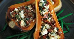 Feta-stuffed butternut squash   http://www.stylist.co.uk/life/recipes/feta-stuffed-butternut-squash#