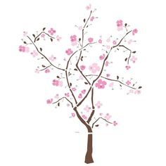 Bring the elegance of a Japanese cherry blossom tree right to your walls with this gorgeous set of removable spring blossom tree wall decals. Cherry Blossom Tree, Pink Blossom, Blossom Trees, Cherry Tree, Wall Stickers, Wall Decals, Wall Art, Tree Decals, Mural Art