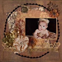 Elegant Baby Scrapbooking Idea
