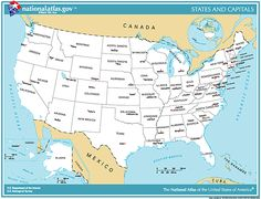 us map with state names and capitals united states map with capitals httpwwwnationalatlasgovprintableimagespdfoutlinestates_capitals pdf