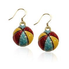 Beach Ball Charm Earrings