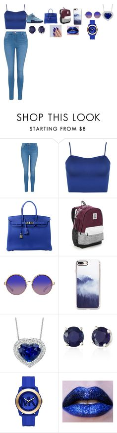"""""""Untitled #152"""" by keshalove-1 ❤ liked on Polyvore featuring George, WearAll, Hermès, Victoria's Secret, Casetify, Effy Jewelry and Michael Kors"""