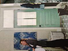 love this door! for my laundry room door? paint is Covington blue by Benjamin Moore