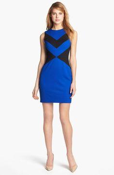 Cynthia Steffe 'Elizabeth' Sleeveless Colorblock Sheath Dress available at Nordstrom