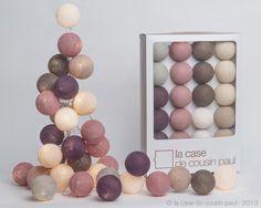 La Case de Cousin Paul - Guirlande lumineuse 20 boules colorées - Modèle Kensington