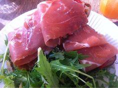 jose9 at JED'S FOOD STORE 'Goats cheese, prosciutto serrano and chili open toastie' (Bondi, Sydney, Australia)