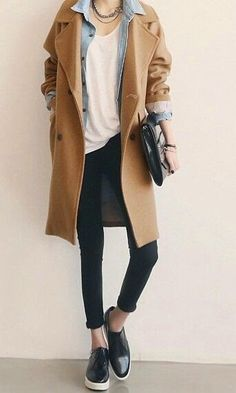 I want pretty: LOOK-Ideas de cómo usar un abrigo beige.