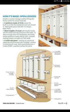 Flurgarderobe This would be neat in the laundry room! Home Renovation, Home Remodeling, Mudroom Laundry Room, Mudroom Cubbies, Home Organization, Home Projects, Diy Home Decor, House Design, Design Design