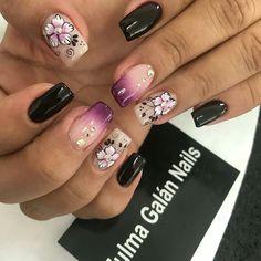 Acrylic Nail Designs, Acrylic Nails, Hair Creations, Flower Nails, Hair And Nails, Finger, Nail Art, Ideas, Nice Nails