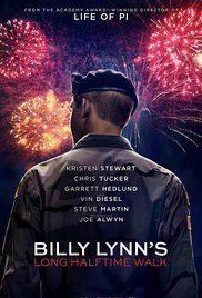 Billy Lynn's Long Halftime Walk (2016) Stars: Kristen Stewart, Garrett Hedlund, Vin Diesel, Steve Martin, Chris Tucker, Makenzie Leigh, Ben Platt
