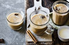 This hot toddy recipe takes fragrant chai flavour and adds vanilla and rum to create the ideal warming cocktail. Find Bonfire Night recipes at Tesco Real Food. Vegan Hot Chocolate, Hot Chocolate Recipes, Tea Recipes, Dairy Free Recipes, Bonfire Night Food, Tesco Real Food, Vanilla Chai, Cocktails, Christmas Drinks