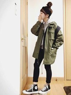 New Fashion Jeans For Girl Tokyo Fashion, Asian Fashion, Teen Fashion, Fashion Outfits, Fashion Ideas, Fashion Clothes, Korean Fashion Tomboy, Womens Fashion, Tomboy Outfits