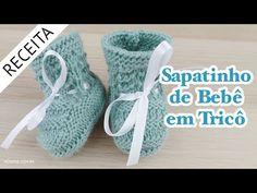 Sapatinho de Bebê em Tricô #66 - Passo a Passo por Rosiene - YouTube