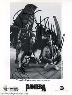 1064: Pantera 1997 Fully Autographed Press Photo - Store - Backstage Auctions, Inc.